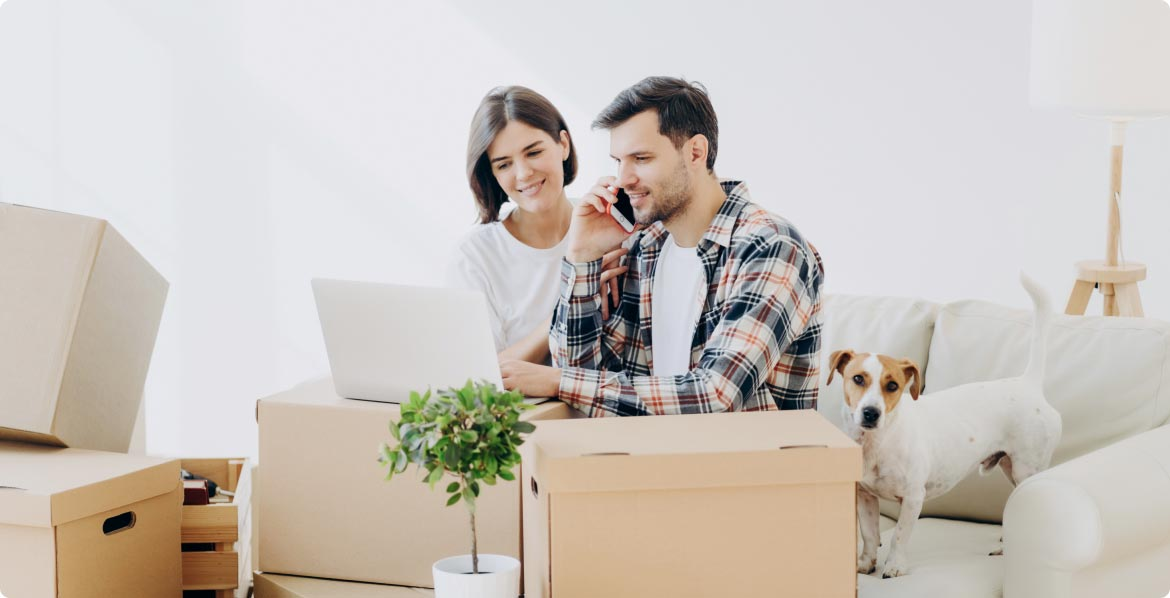 image of two people moving houses for best fit movers