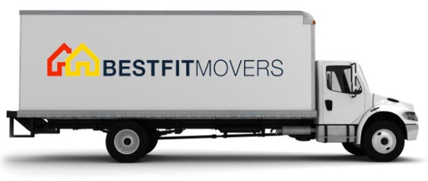 image of a best fit movers moving truck