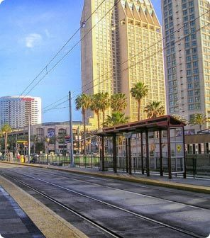 photo of a local San Diego city street