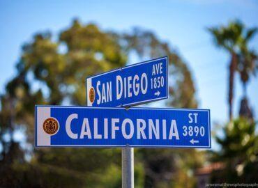 San Diego street sign