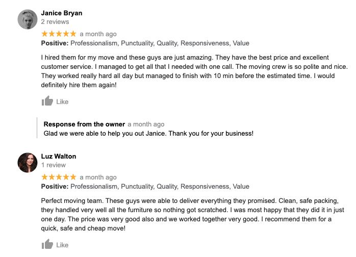 Reviews for movers La Jolla CA