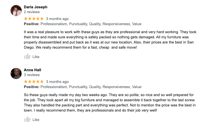 poway moving reviews
