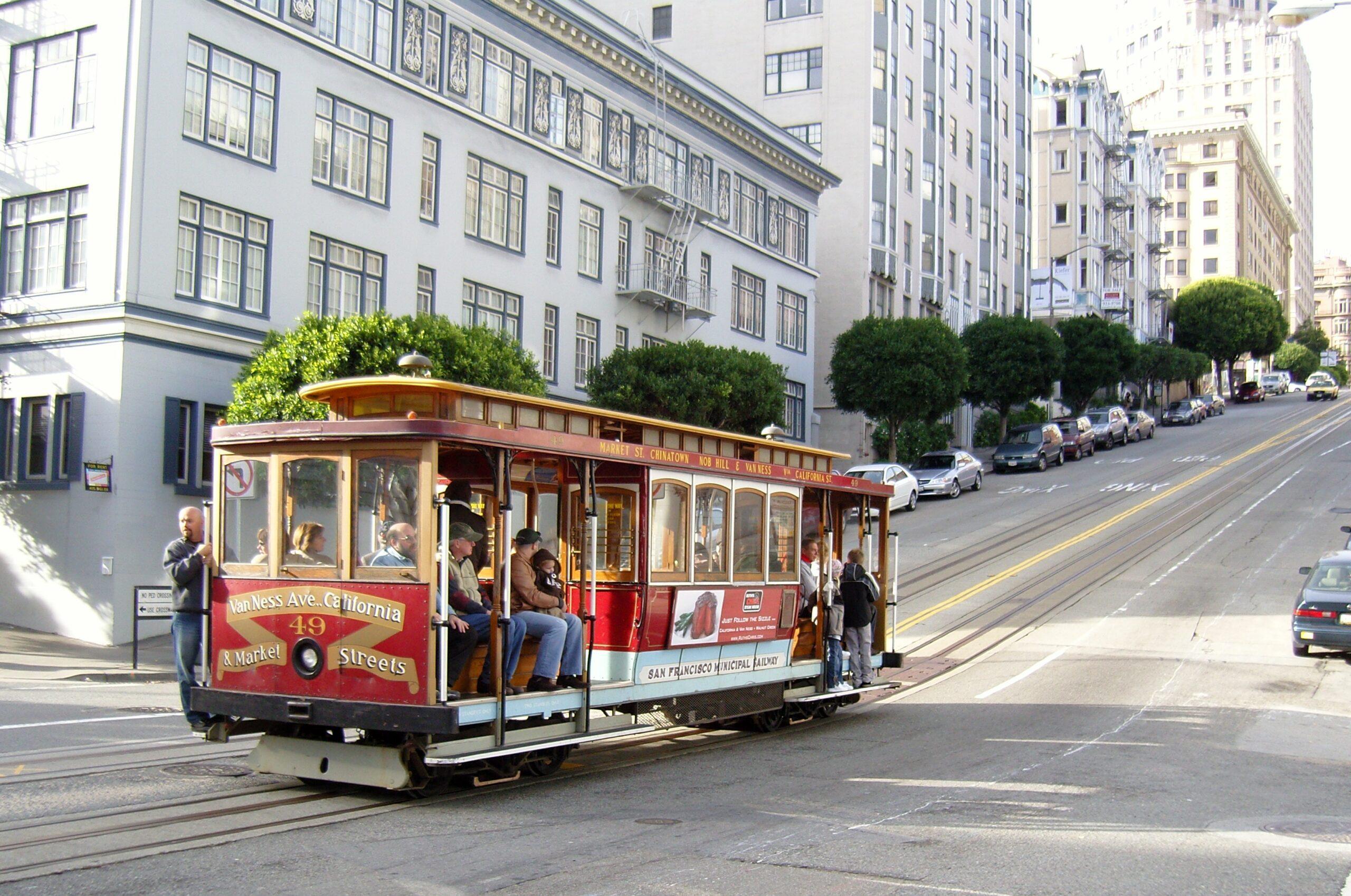 San Francisco public transit trolley